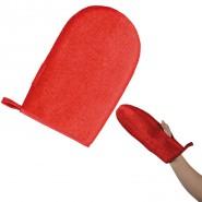 Fussel-Handschuh für Links- und Rechtshänder, rot