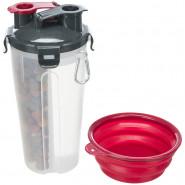 Futter- und Wasserbehälter, 2 x 0,35 l, 11x23cm