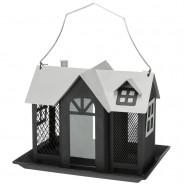 Futterhaus Villa, 2.000 ml, 26x19x19cm, schwarz