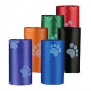 Hundekotbeutel sortiert mit Pfoten