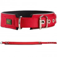 Hunter Halsband Neopren Reflect, rot/schwarz