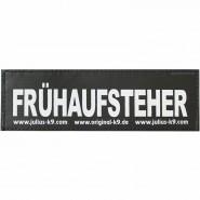 Julius-K9 Klettsticker, L, FRÜHAUFSTEHER 2 Stk.