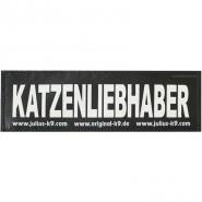 Julius-K9 Klettsticker, L, KATZENLIEBHABER 2 Stk.