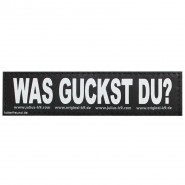 Julius-K9 Klettsticker, L, WAS GUCKST DU? 2 Stk.
