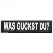 Julius-K9 Klettsticker, S, WAS GUCKST DU? 2 Stk.