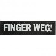 Julius-K9 Klettsticker, XS, Finger WEG! 2 Stk.