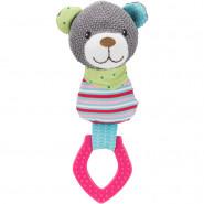 Junior Bär mit Ring, Stoff/Kunststoff, 23cm