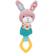 Junior Hase mit Ring, Stoff/Polyester, 23cm