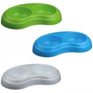 Kunststoffnapf, doppelt 2 x 0,2 l / 10 cm