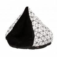 Kuschelhöhle Lulu, 55 cm, weiß/schwarz