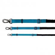 Experience Leine mit Ruckdämpfer, blau