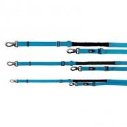 Experience V-Leine mit Ruckdämpfer, blau