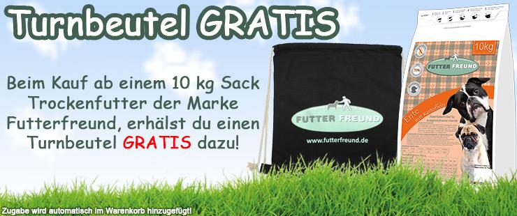Zugabe FF Trockenfutter 10kg - Turnbeutel