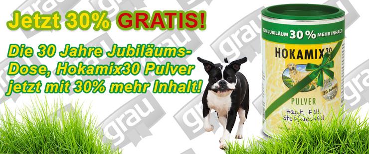 Grau Hokamix Jubiläums-Dose