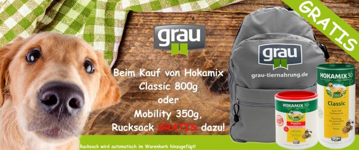 Grau Hokamix + Rucksack
