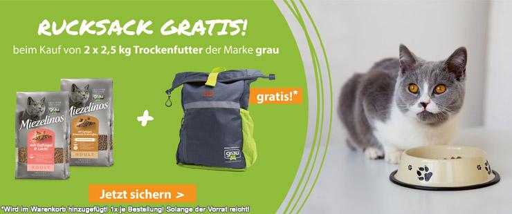 Grau Miezelinos 2x2,5kg + Rucksack
