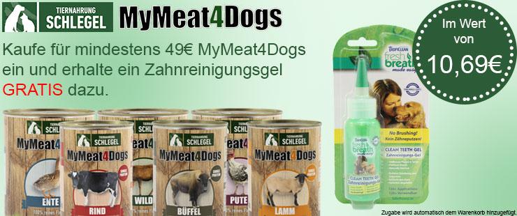 MyMeat4Dogs + Zahnreinigungsgel