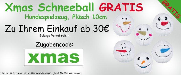 Zugabe Warenwert - Xmas Schneeball