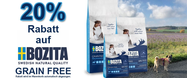 20% Rabatt auf Bozita Grain Free