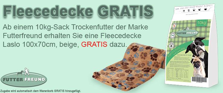 Futterfreund Trockenfutter Zugabe Fleecedecke