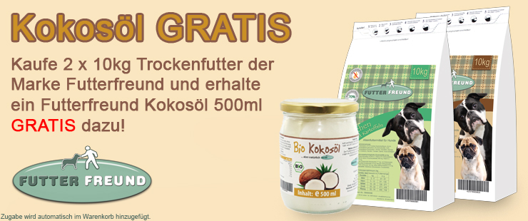 Futterfreund Trockenfutter + Kokosöl
