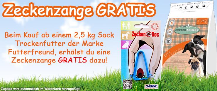 Futterfreund Trockenfutter - Zeckenzange GRATIS