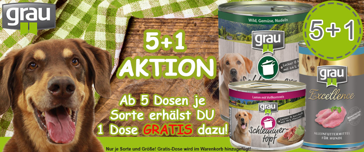 Grau Nassfutter Hund 5+1 Aktion