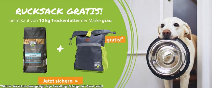 Grau Excellence Trockenfutter 10 kg + Rucksack