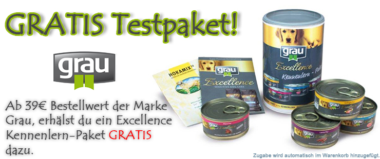 Grau Kennenlern-Paket gratis bei Futterfreund