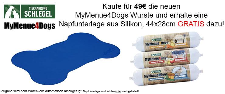 MyMenue4Dogs Hundefutter Würscht + Zugabe