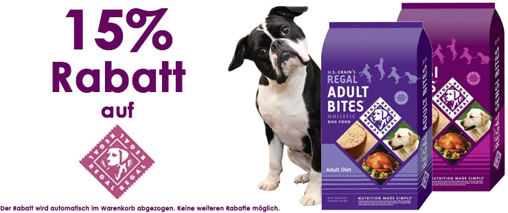 15% Rabatt auf Regal Petfood