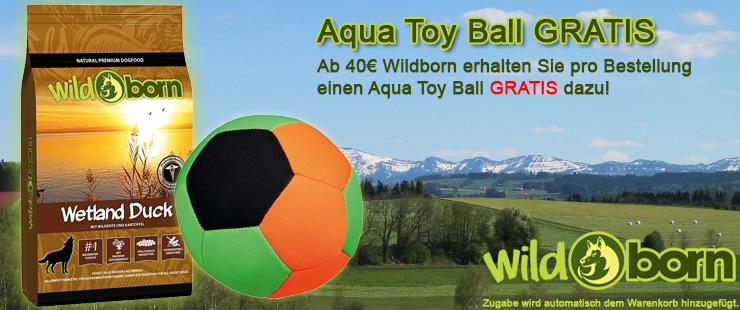 Wildborn Trockenfutter Zugabe Aqua Toy Ball