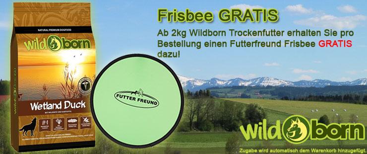 Wildborn Trockenfutter Zugabe Frisbee