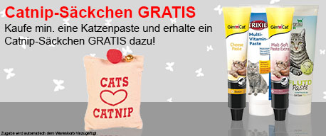 Katzenpasten + Catnip-Säckchen Aktion