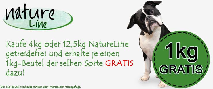 Nature Line getreidefreies Trockenfutter 1kg GRATIS