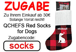 Zugabe Qchefs Red Socks for Dogs