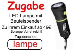Zugabe - LED Lampe mit Beutelspender